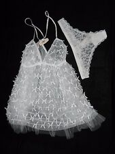 Victorias Secret Lingerie Very Sexy Bridal Babydoll Wedding Nightgown Size Large