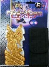 Firestorm Stun Gun with Holster Gold Silver Dragon 10,000,000 Volt  New in Box