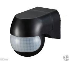 """Spot Luz 180"""" Sensor Detector Movimiento de movimiento PIR Seguridad Interruptor Negro"""