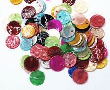 Mix colour shell charm,drop, bead  13x1 mm - pack of 50