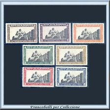 1935 San Marino Fascio serie completa n. 186/192 Nuovi Integri **