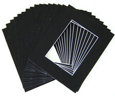 16x20 cut 10.5x15 Black Mat whitecore 100/pack