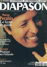 Diapason #468 -Murray PERAHIA- La leçon de piano, hi-fi 6 ensembles ampli-préamp