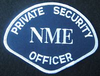PRIVATE SECURITY OFFICER EMBROIDERED SEW ON PATCH NME ADVERTISING COLLECTIBLE