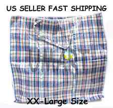 XX Large Plastic Zipper Bag Woven Laundry  Groceries Shopping Tote Storage Bags