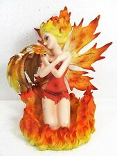 Fire Fairy with baby Dragon Mythical Fantasy Decor Figurine