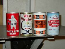 4 Diff White Bear, West Virginia, Western, Weiss Bavarian NM Beer Cans