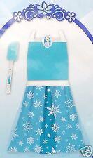 Disney Frozen Princess Elsa Blue Apron Dress Up Play Set with Spatula 2pc New