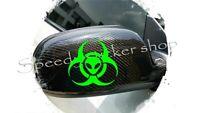 Biohazard Car Sticker ALIEN Wing Mirror Styling Decals X2 WINDOW CAR BODY A249