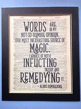 Harry Potter Silente parole sono fonte MAGICA IDEA REGALO DIZIONARIO ANTIQUARIATO ARTE
