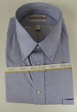 Roundtree & Yorke Gold Label Non Iron EZ Wash Twill Striped Dress Shirt $75 NWT