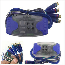 Car SUV Stereo Radio Speaker Wire 4-Way RCA Hi/Lo Line Level Converter Adaptor