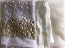Pakistani Asian Embrioded Net Pearl Work  UN-STITCHED SHALWAR KAMEEZ Suit