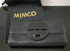 MIMCO Black Matte Large Turnlock Wallet Leather Purse Mim Love FREE Post BNWT