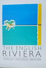ORIGINAL  Torquay English Riviera Tourist Office Poster. NOT REPRODUCTION.