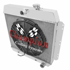 "4 Row Performance Champion Radiator W/ 16"" Fan for 1949 - 1954 Chevrolet Cars"