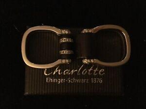 Original Charlotte Ehinger Schwarz Ring mit Brillanten Tipit L