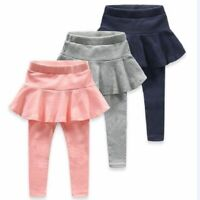 Girls Leggings Skirt-Pants Baby Girl Spring Autumn Warm Mid Waist Kids Leggings