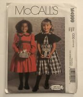 McCalls M4999 Child Girls Caplet & Dress Lined Size 2-5 Sewing Pattern Uncut New