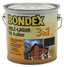 Bondex 3in1 Holzschutzlasur Ebenholz 25L UV Lasur Wetterschutzlasur