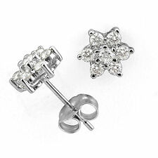 0.50 Ct Round Natural Diamond F-G VS1-VS2 Cluster Women's Earring 14k Gold White