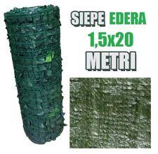 SIEPE ARELLA SINTETICA ARTIFICIALE STUOIA FINTA FOGLIA EDERA LAURO 1,5x20 METRI