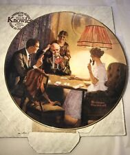 """Norman Rockwell """"This Is The Room That Light Made"""" Plate #7642C*Knowls*"""