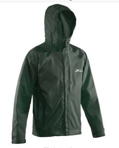 Grundéns Gage Weather Watch Hooded Fishing Jacket Medium Green