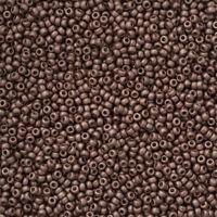 Miyuki 11/0 Beads 11-4213F Duracoat Galvanized Matte Dark Mauve 24g (N19/4)