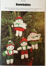 SEWING PATTERN Jean Greenhowe Snowbabies 15cm Toy Christmas Decorations RARE