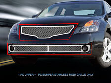 Dual Weave Mesh Grille Combo Grill For Nissan Altima Sedan 2007 2008 2009