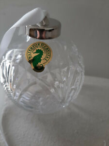 Waterford Crystal Seahorse Ball Ornament New in Box