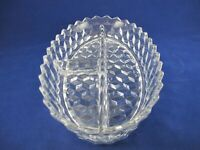 American Fostoria DIVIDED RELISH DISH TRAY 3 Part Stacked Cube Design USA