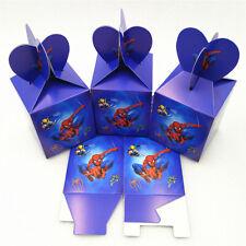 12 Pcs Spiderman Super Hero Boys Candy Box Kids Birthday Party Supplies Favors