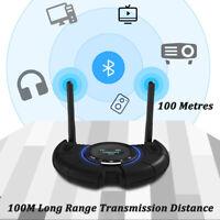 100M Long Range Bluetooth Transmitter Receiver Aptx For Spdif Optical 3.5MM AUX