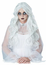 Supernatural Ghost Spirit Halloween Costume Wig White Gray