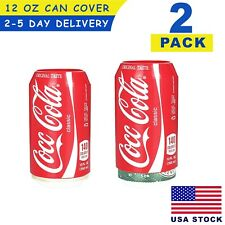 Silicone Hide a Beer Can Cover Beverage Bottle Sleeve 350ml ( 2 Pack ) USA STOCK