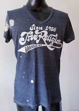 Men's Distressed TRUE RELIGION Grey Gray T-Shirt Short Sleeve Size M
