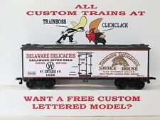 Ho Custom Lettered Delaware Del (Nyo&W) Freight Car Boxcar Reefer Lot 7A