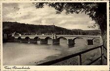 Trier Postkarte 1938 Römerbrücke Brücke Verlag Niko Haas gelaufen und frankiert