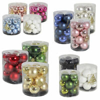 Christmas Tree Decoration Glass Baubles - 30mm 40mm 60mm or 80mm - 6/10/12/24 Pc