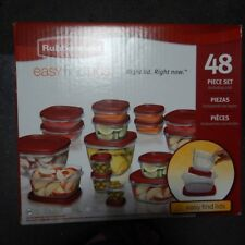 Rubbermaid Plastic Food Container 48 Piece Dishwasher Microwave Freezer Safe BPA