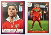 Panini EURO 2012 Cristiano Ronaldo #277 + #280 German Edition Sticker Set RARE