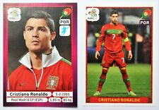 Panini EURO 2012 Cristiano Ronaldo #277 + #280 German Edition Sticker Set RARE