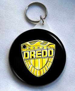Judge Dredd Shield 58mm Keyring Judge Dredd 2000AD