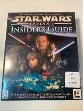 Star Wars: Episode I - Insider's Guide (Complete, PC, CD-ROM, 1999) Unopened