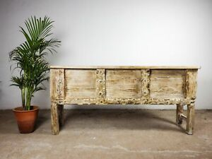 Vintage Rustic Indian Wooden Console Table MILL-1038
