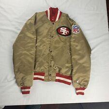Vintage 49ers Satin Gold Starter Proline Jacket 80's Size Medium