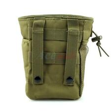 Army Green Military Airsoft Small Molle Magazine DUMP Ammo Drop Utility Pouch