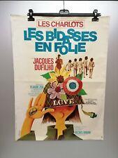 Ancienne affiche de cinéma - originale - Les bidasses en folie - 1971
